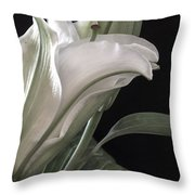 Pale Lily Throw Pillow