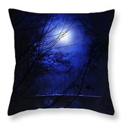 Pale Moon Throw Pillow