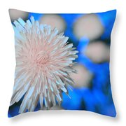 Pale Pink Bright Blue Throw Pillow