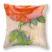 Pale Rose Throw Pillow by George Adamson