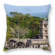 Palenque Palace Throw Pillow