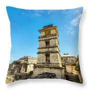Palenque Palace Tower Throw Pillow