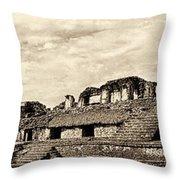 Palenque Panorama Sepia Throw Pillow
