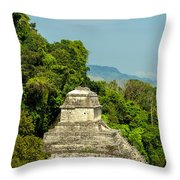 Palenque Temple Throw Pillow