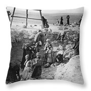 Palestine Archeology Throw Pillow