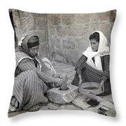 Palestine Grinding Coffee Throw Pillow
