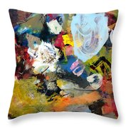 Palette Abstract Throw Pillow