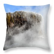 Palette Springs Steaming Top Throw Pillow