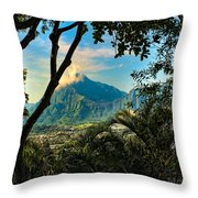 Pali Lookout For Puu Alii Throw Pillow