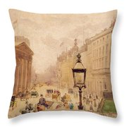 Pall Mall From The National Gallery Throw Pillow