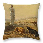 Pallas Athena And The Herdsmans Dogs Throw Pillow