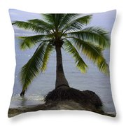 Palm At The Edge Of The Sea Number Two Throw Pillow