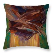 Palm Bark Throw Pillow