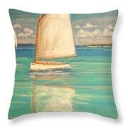 Palm Bay Throw Pillow