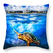 Palm Beach Under And Over Throw Pillow