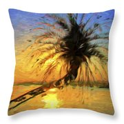 Palm Beauty Throw Pillow