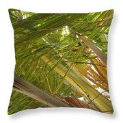 Palm Blossoms Throw Pillow