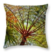 Palm Canopy Throw Pillow