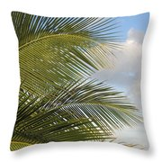 Palm Close Up 3 Throw Pillow
