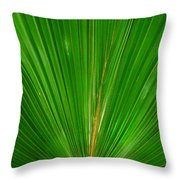 Palm Closeup Throw Pillow