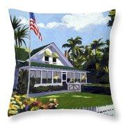 Palm Cottage Naples Florida Throw Pillow