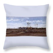 Palm Forest In Elche Throw Pillow