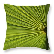 Palm Fron Abstract Throw Pillow