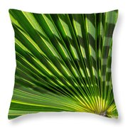 Palm Frond Throw Pillow