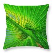 Palm Frond Work A Throw Pillow