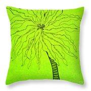 Palm Green Throw Pillow