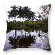 Palm Island I Throw Pillow