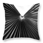Palm Leaf 6684bw Throw Pillow