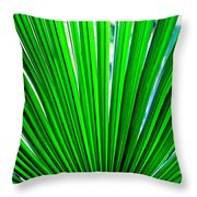 Palm Leaf 6687 Throw Pillow