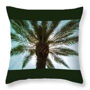 Palm Light Throw Pillow