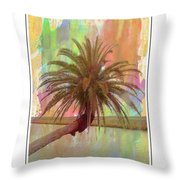 Palm On The Loop Throw Pillow