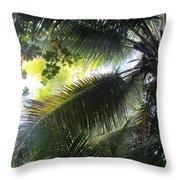 Palm Pattern 1 Throw Pillow