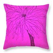 Palm Pink Throw Pillow