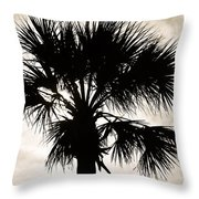 Palm Sihlouette Throw Pillow