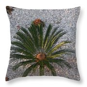 Palm Spray Throw Pillow