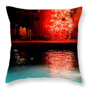 Palm Springs Christmas Throw Pillow