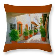 Palm Springs Courtyard Throw Pillow
