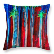 Palm Springs Nocturne Original Painting Throw Pillow