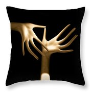 Palm Tickle Throw Pillow