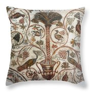 Palm Tree And Birds Throw Pillow