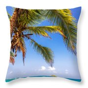 Palm Tree And Caribbean Throw Pillow