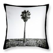 Palm Tree And Graffiti Throw Pillow