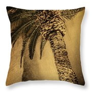 Palm Tree At The Aladdin Casino Throw Pillow
