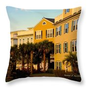 Palm Tree Beauty At Isle Of Palms Throw Pillow