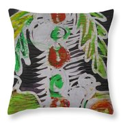 Palm Tree In The Bush.   Throw Pillow
