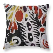 Palm Tree With Two Keg Of Palm Wine.  Throw Pillow